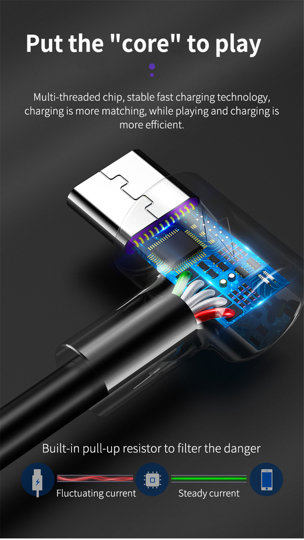 ROCK 5A USB Type C Cable Fast Charging Data Type-C USB Charger For Huawei P30 P Mate Pro Phone Supercharge Quick Charge 3.0 9