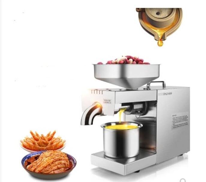 220 В/110 В тепло и холод дома нефти пресс-машина Пайннат, какао сои оливковое масло пресс-машина высокая скорость добычи нефти
