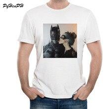 80ecaa850 PyHenPH Summer Style T-Shirt Men Batman Catwoman / Wonder Woman T Shirt Tee  Shirt