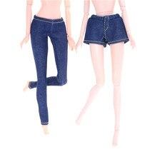 3c67a670f24de Elastik Mavi Kot Dipleri Pantolon Şort Uzun Pantolon Için oyuncak bebek  giysileri Moda Için 1/