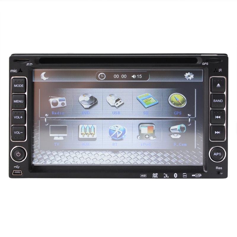 universal 2 two Din 6.2 inch in-dash Car DVD player,audio Radio stereo video,USB/SD,BT/TV,AM/FM,AUX,car multimedia headunituniversal 2 two Din 6.2 inch in-dash Car DVD player,audio Radio stereo video,USB/SD,BT/TV,AM/FM,AUX,car multimedia headunit
