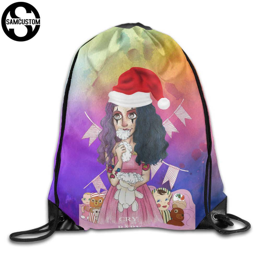 c77b1e0c4852 SAMCUSTOM rebellious cry baby 3D Shoulders Bag Fabric Backpack men and  women Port Drawstring Travel Shoes