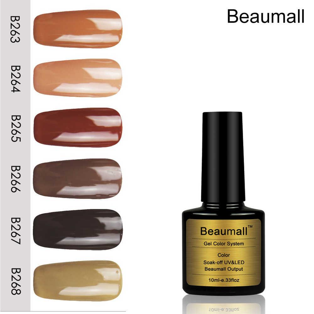 Beaumall Unghie artistiche Gel CAFFÈ Colori di Serie #263 ~ 268,10 ml di Volume Soak Off UV & LED Gel Lacche Del Chiodo lucidi