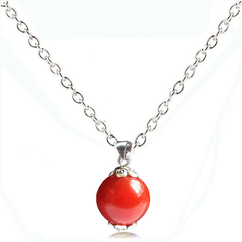 Red Coral Pendant Necklace Quartz Antique Necklaces Women 2017 Fashion Jewelry Natural Stone Collares NEW