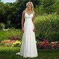 2017 Wonderful Bohemian Bride Dress Beautiful White Simple Cheap Beach Wedding Dresses Straps Beaded Veatidos De Novia