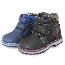 3044250a Nuevo 1 par invierno nieve botas de algodón acolchado niños bota -30 grados  de invierno Rusia niños de cuero de la PU zapatos de.