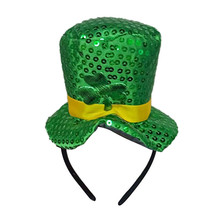 a9aceba39e2be Novo Trevo Irlandês Irish St Patricks Day Verde Cabeça Chapéu Adulto Chapéu  De Veludo para Homens
