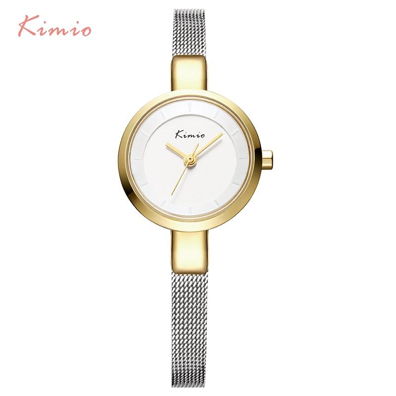 Kimio Women's Bracelet Watch Stainless Steel Fine Mesh Quartz Watches Women Ladies Dress Wristwatch With Gift Box reloje mujer kimio k482s
