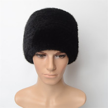 69e7fb1ea1c ERaBLe Real mink fur winter caps beanie black brown russian men warm knitted  hats