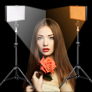 Image 5 - Travor 2in1 TL 160 Led Video Light kit with 78 inch light stand 3200K/5500K LED Camera Camcorder Video Light Panel with Battery