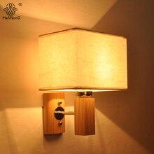 Einfache Design Wandleuchte E27 90 V 260 Kreative Holz Chinesischen Stil Stoff Lampenschirm Fr Schlafzimmer Wohnzimmer Wohnku
