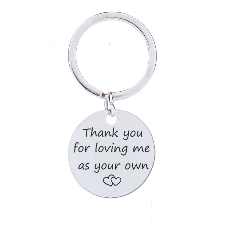 Thanksgiving gift thank you for loving me as your own letter charm
