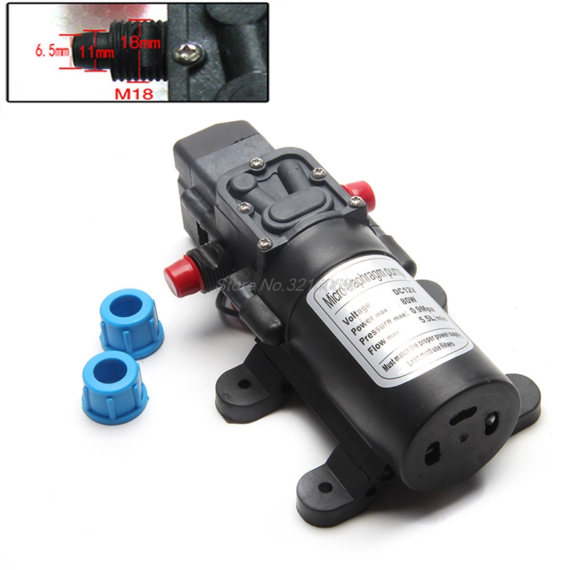 Pumpen 5.5l/min Dc12v 80 W 0142 Motor Hochdruck Membran Wasser Selbst Pumpe Ausgereifte Technologien Sanitär