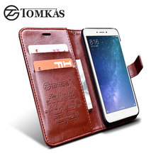 Xiaomi Redmi 4X Case Cover TOMKAS Original Flip PU Leather Wallet Cases For Xiomi Xiaomi Redmi 4X Phone Bag Cover Kickstand