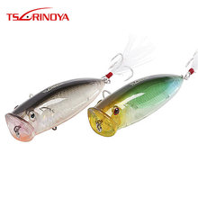Promosi 2 Pcs/lot Tsurinoya Popper 80 Mm 20G Topwater Floating Memancing Hard Umpan Set Buatan Plastik Ikan Umpan dengan hook(China)