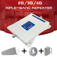 70dB 2 г 3g 4G трехдиапазонный мобильный ретранслятор сигнала GSM 900 DCS 1800 WCDMA 2100 мобильный телефон сотовая связь усилитель сигнала 3g 4G LTE