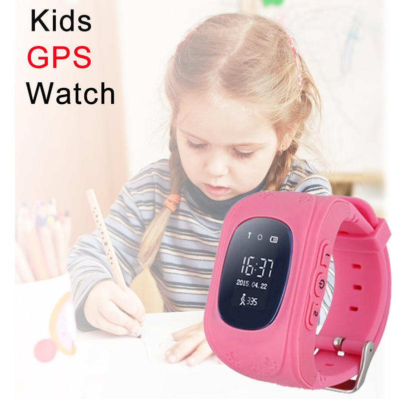 GPS Tracker Alarm child smart watch with SIM SOS Q50 kids Cartoon smartwatch children cellphone wristwatch monitor call baby