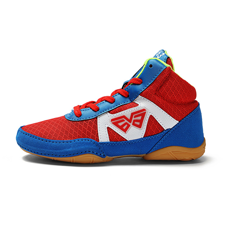 Kids Professional Wrestling Shoe Lightweight Breathable Boys Girls Boxing Shoes Red Blue Child Soft Sport Sneakers Trainer