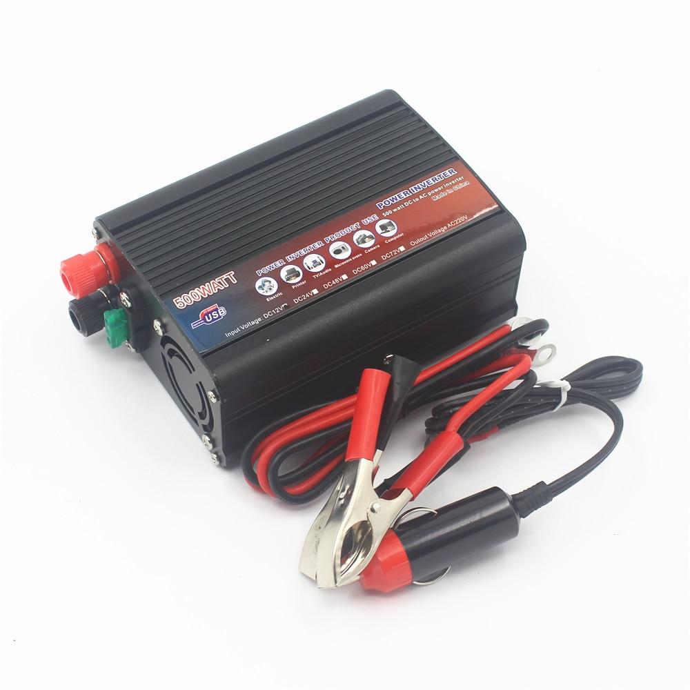 Car Inverter Motor Inverter 12 24 220 V To 220 V 500w