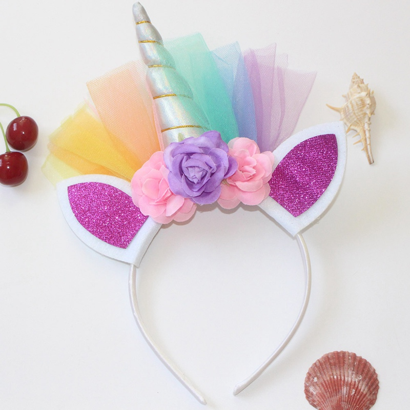 1PC Shiny Metal Unicorn Headband For Girls And Children 2018 DIY Felt Unicorn  Horn Headband With Unicorn Party Hair Accessories-in Hair Jewelry from  Jewelry ... 10d018f50d8