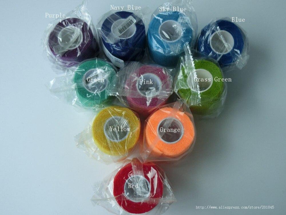 90 Pcs/Lot 5cm x 4.5m Self Adhesive Nonwoven Bandage elastic Cohesive wrap tape sports protection wholesale
