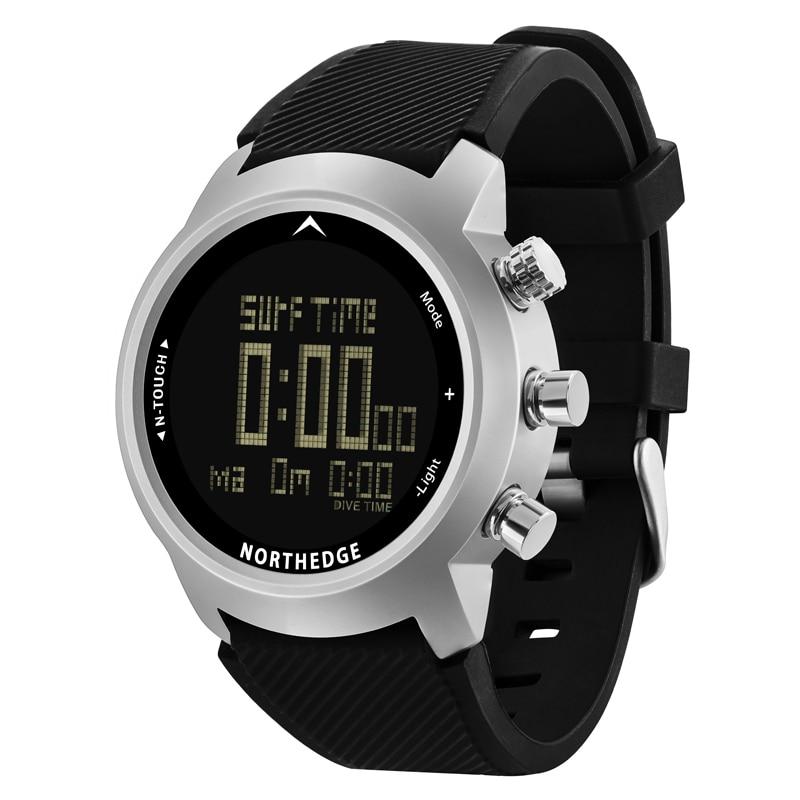 NORTH EDGE Men Sport Watch Altimeter Barometer Compass Thermometer Pedometer Calorie Depth Gauge Digital Watch Diving Climbing - 3