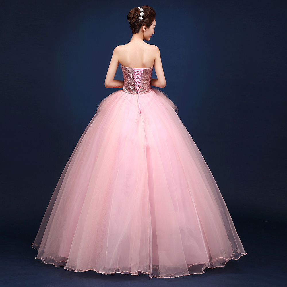 Image 4 - Pink Tulle Quinceanera Dresses Sleeveless Tulle With Lace Ball  Gown Sweet 16 Years Dress Vestidos 15 AnosQuinceanera Dresses   -