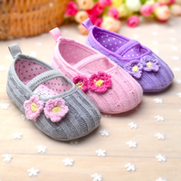 2017 Fashion Baby Girl Infant Toddler Children Crochet Flower Kids Girls Shoes Wholesale First Walkers Sneaker 0-12M Prewalkers
