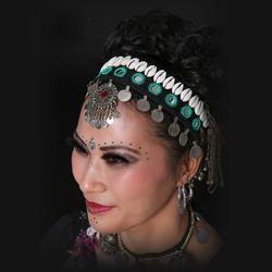 Новое поступление 2016 г. ats Трайбал танец живота аксессуары Винтаж национальные украшения женский головной убор Gypsy головные цепи