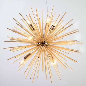 Post-modern Gold Pendant Lights Living Room Restaurant Study led radiation sphere art Personality design pendant lamp modern pendant lights spherical design white aluminum pendant lamp restaurant bar coffee living room led hanging lamp fixture