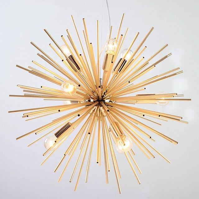Postmodernen Gold Pendelleuchten Wohnzimmer Restaurant Studie Led Strahlung Kugel Kunst Personlichkeit Design Pendelleuchte