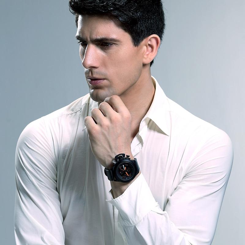 Nouveau Unique Top marque de luxe hommes sport militaire montre à Quartz homme analogique Date horloge bracelet en cuir montre-bracelet Relogio Masculino - 4