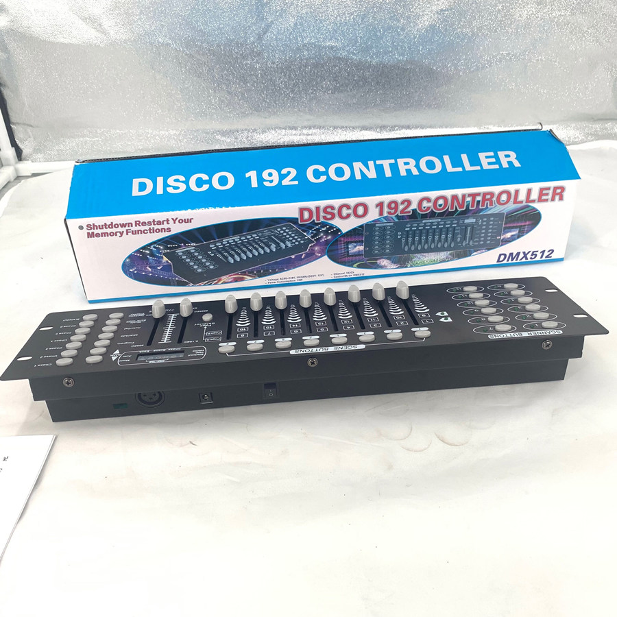 Disco 192 controller, for stage lighting 512 dmx console DJ controller equipment  Dmx controllerDisco 192 controller, for stage lighting 512 dmx console DJ controller equipment  Dmx controller