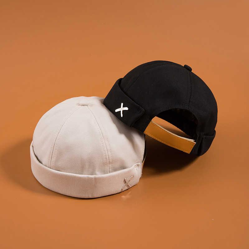 قبعة غير رسمية للشارع للرجال لسائقي الدراجات النارية ، قبعة دائرية ، قبعة بدون إطار ، قبعة على الموضة للجنسين ، قبعات على شكل يقطينية عتيقة ، قبعات باللون الكحلي