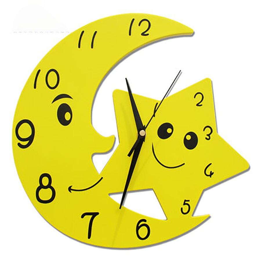 Children's Fashion Wall Clock Bedroom Living Room Wall Table Mute Clock Cartoon Wall Charts Simple Creative Quartz Clock WZH249