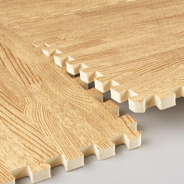 Wood Grain Middlebury Mats Eco Friendly Eva Puzzle Mats Foam Wood