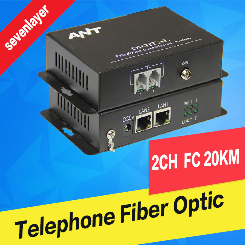 Telephone To Fiber Optic Converter PCM Voice Over Fiber Optic Media Converter Fxs/fxo To Fiber Optical Converter Transmitter 2CH