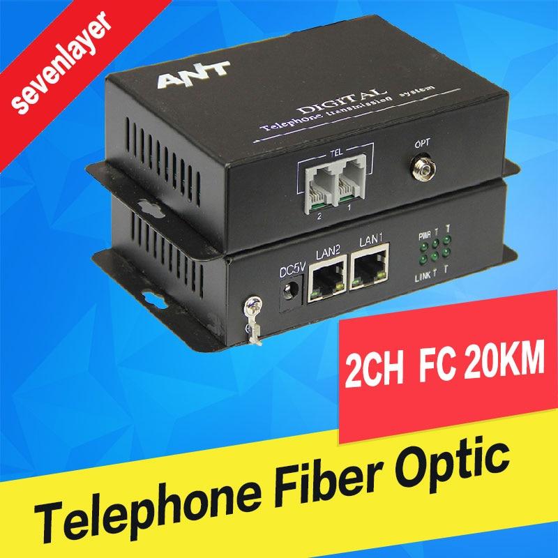 Telephone To Fiber Optic Converter PCM Voice Over Fiber Optic Media Converter Fxs/fxo To Fiber Optical Converter Transmitter 2CH