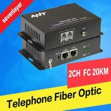 купить Telephone to fiber optic converter PCM Voice over fiber Optic Media Converter fxs/fxo to fiber optical converter Transmitter 2CH дешево