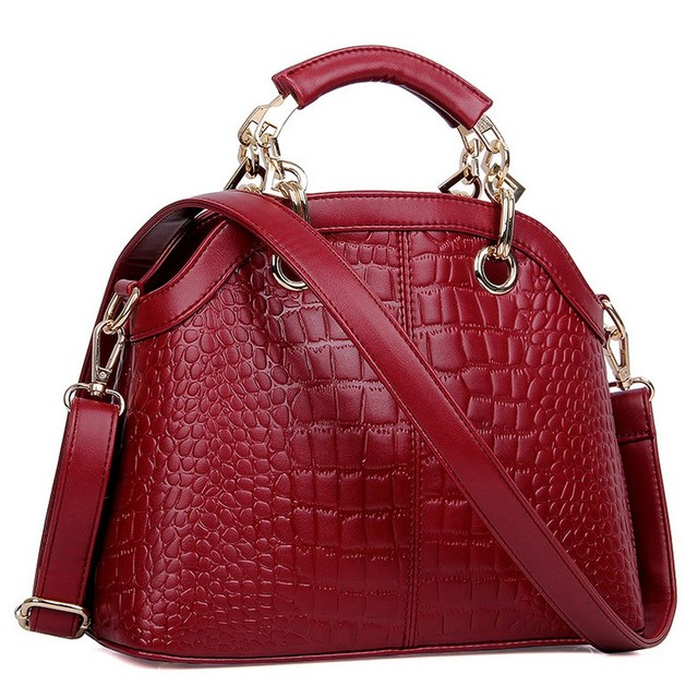 famous brand crocodile leather handbags shell chain shoulder bag Fashion trends messenger bag XN40
