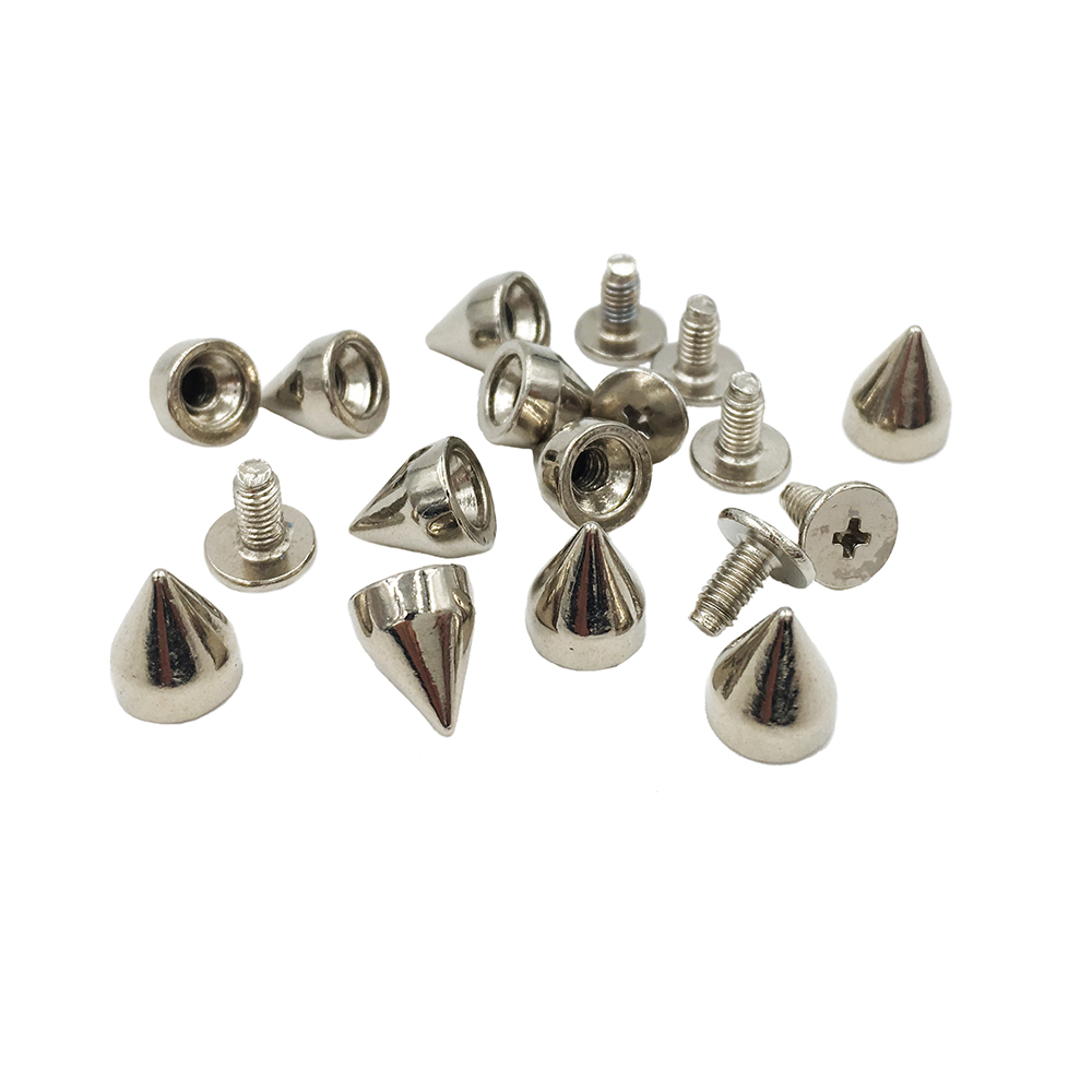 Punk Cat Claw Spikes Screwback Studs Rivet for DIY Leathercraft Pack of 20 Silver