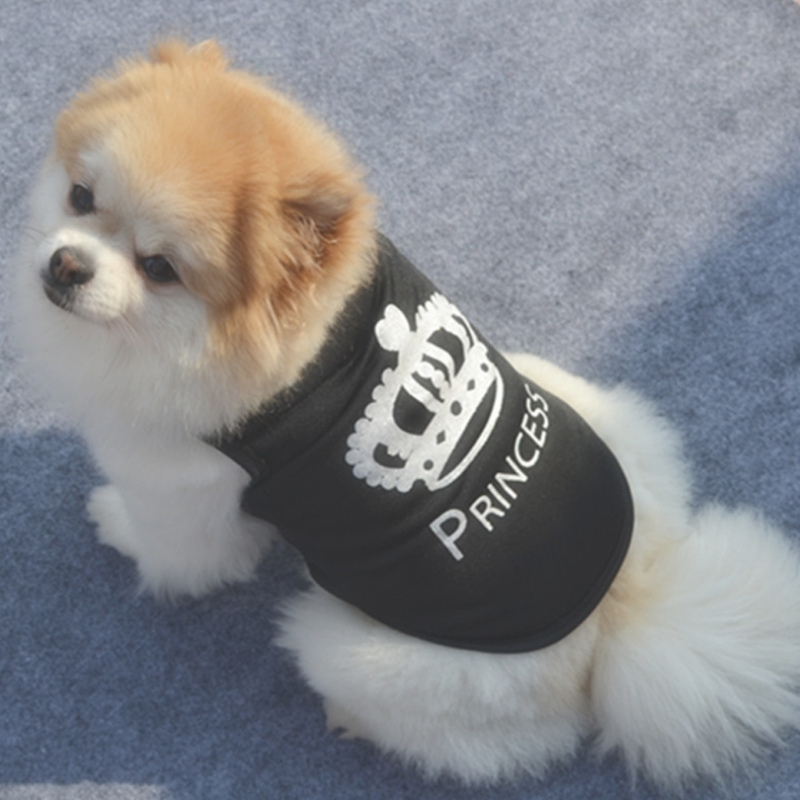 2018 New Pet Vest Black Cool Fashion Coat Summer Clothes For Dog Puppy Polyester