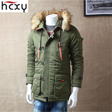 HCXY 2016 New Winter Mens Parka Clothing Thick warm Men Jacket Coat With Fur Hood high