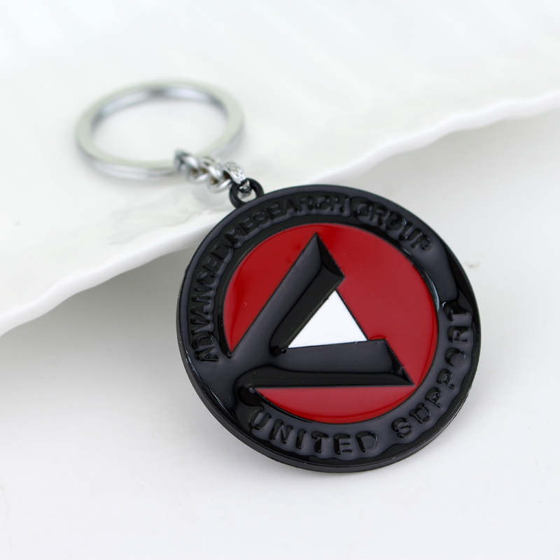dongsheng Movie Series Suicide Squad Keychain Metal Pendant A.R.G.U.S Model Figure Toy With Keychain KeyRing Men Gift -50