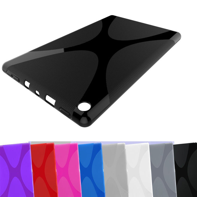 Anti-skid Matte X Line Soft Silicone Rubber TPU Gel Skin Cover Protector Case For Amazon Kindle Fire HD 8 2017 Generation Tablet x line tpu case gel silicone tablet case skin rubber cover pouch sleeve bag for sony xperia z3 8 0 tablet compact sgp621 sgp641