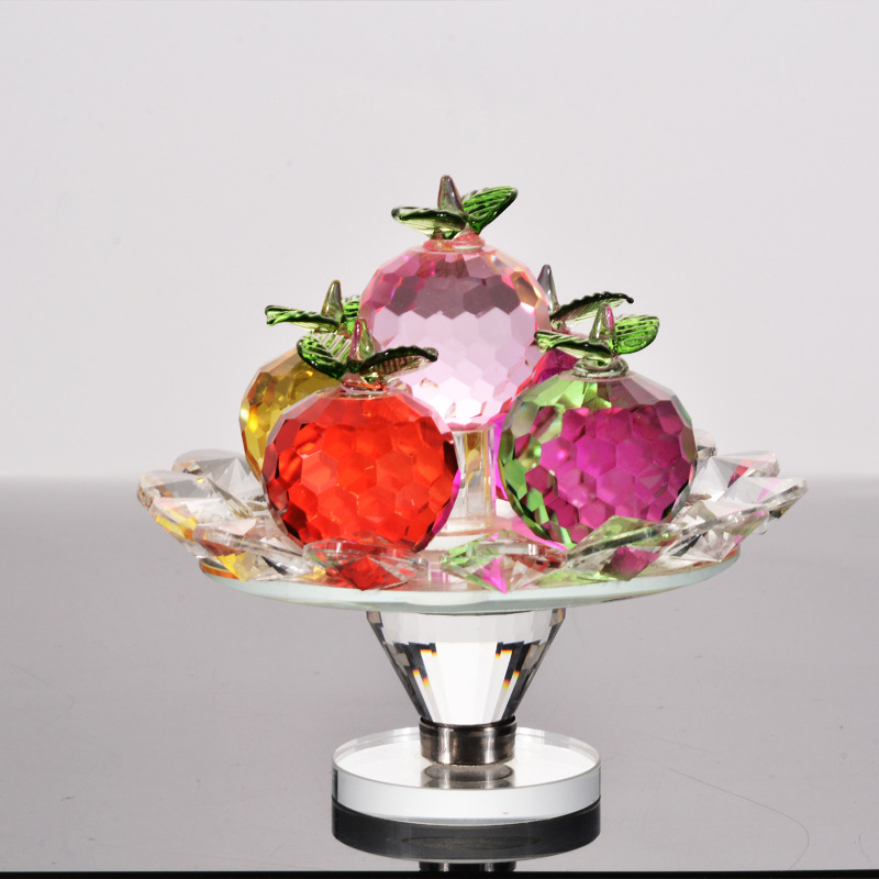 Creative Crystal Apple Crafts Decoration Personality Fruit Apple Home Decorations Promotional Gift Crystal