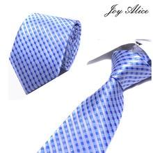 Stripe Ties Mens Fashion Tie 8 cm Blue Necktie Blue&purple Color Neck For Men Business Red Wedding Shirt Accessory