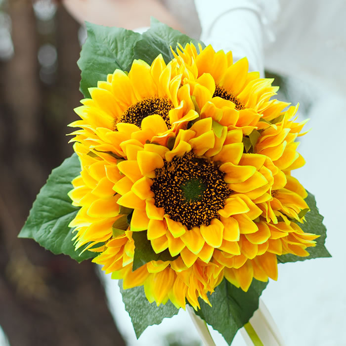 gerbera daisy bouquets for weddings bouquet yellow gerbera gerber silk wedding flowers 4471