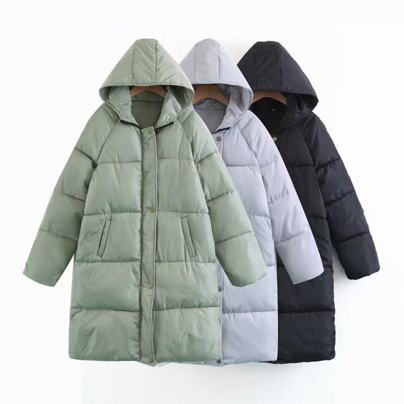 SWYIVY Woman Coat Mid Long Warm Winter Clothing 2018 Autumn Winter New Female Cotton Parkas Hooded Female Outwear Coat Jacket