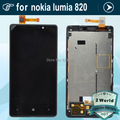 For Nokia Lumia 820 LCD Display Screen Touch Digitizer With Frame Assembly Replacement Black frame